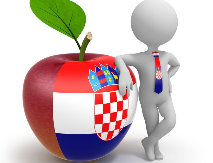Krawatte aus Kroatien