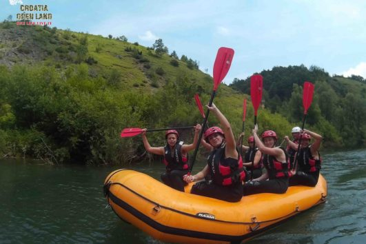 Rafting in Kroatien Fluss Mreznica