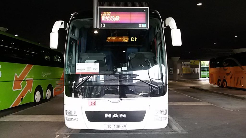 Mit Bahn und Bus nach Kroatien reisen