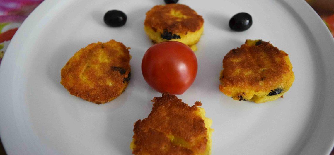 Gebratene Polenta mit Oliven