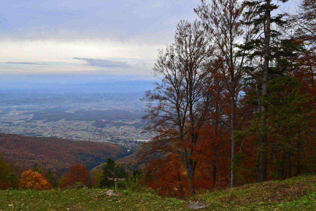 Aussicht in Zagorje von Sljeme