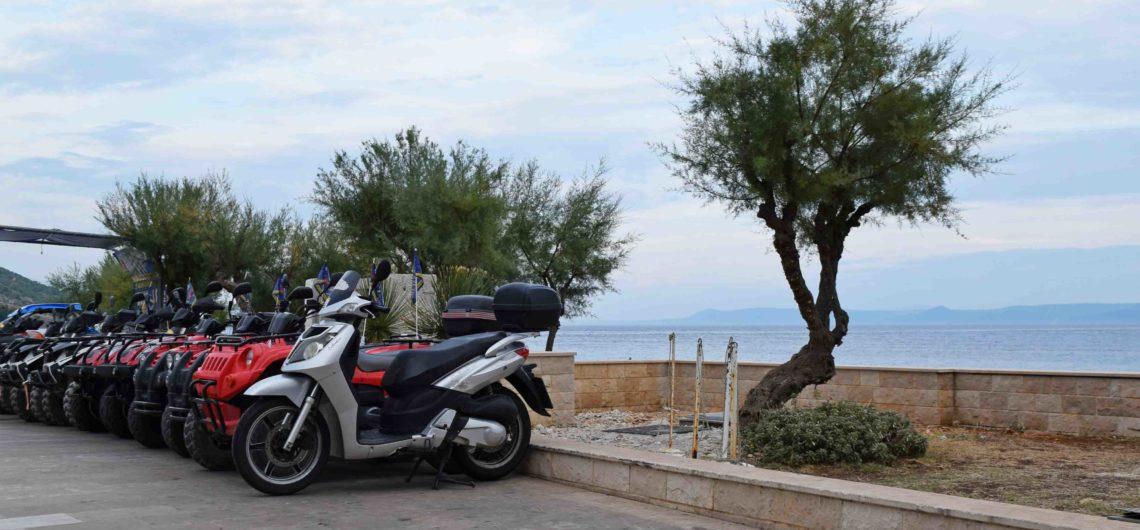 Motorroller auf Brac, Scooterverleih in Bol