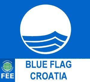 Blaue Flagge Kroatien