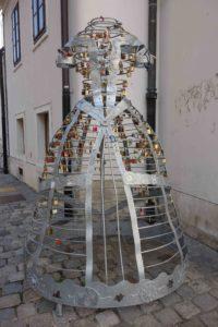 Liebesskulptur in Varazdin