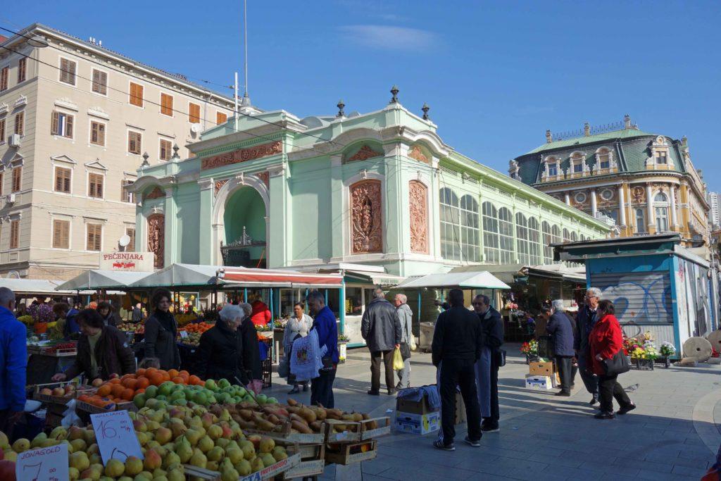Markthalle von Rijeka, Kroatien