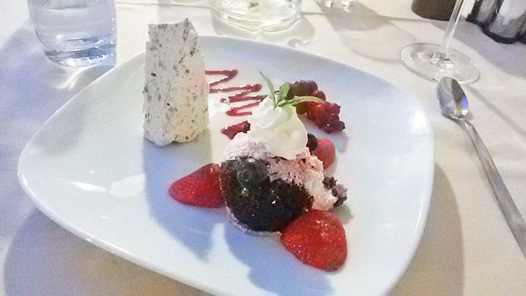 Dessert im Restaurant Domino Dramalj