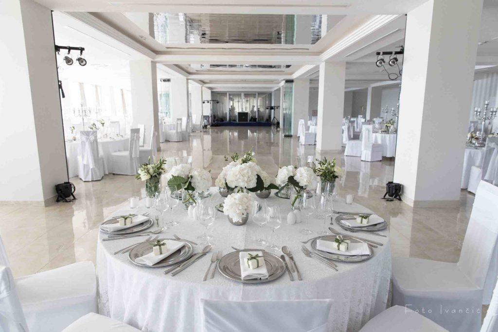 Hochzeitssaal im Hotel Omorika in Crikvenica