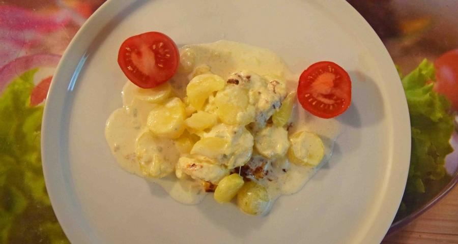 Kartoffelgratin mit Salbei