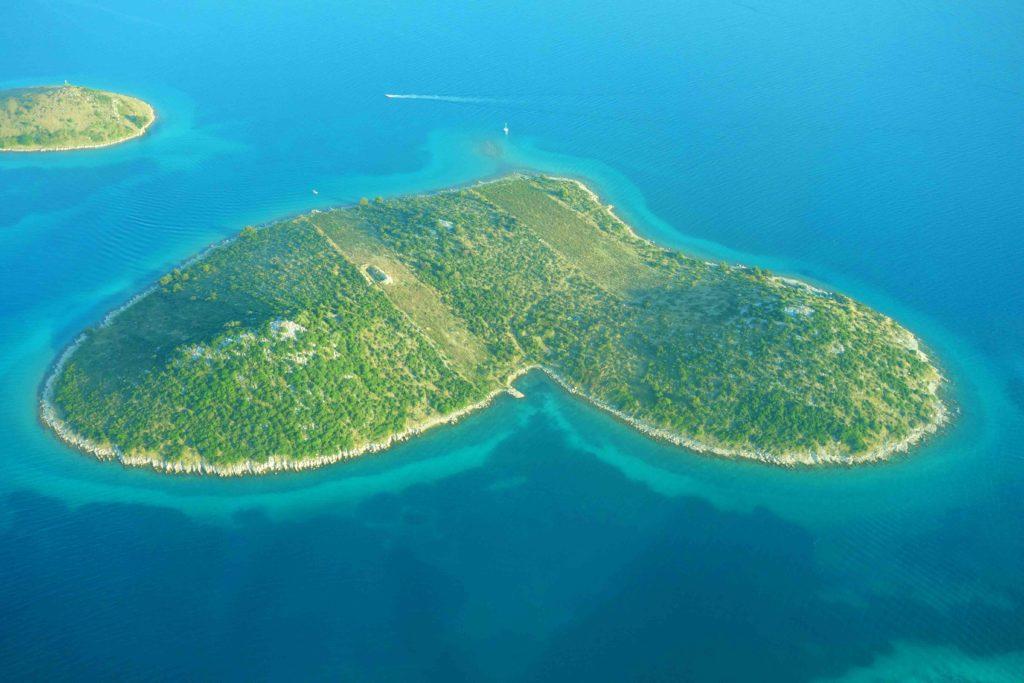 Herzinsel Galesnjak Kroatien