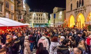 Weihnachtsmarkt in Split