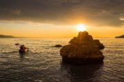 Kajaktour im Sonnenuntergang Kroatien