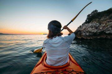 Makarska Riviera Kajaktour im Sonnenuntergang