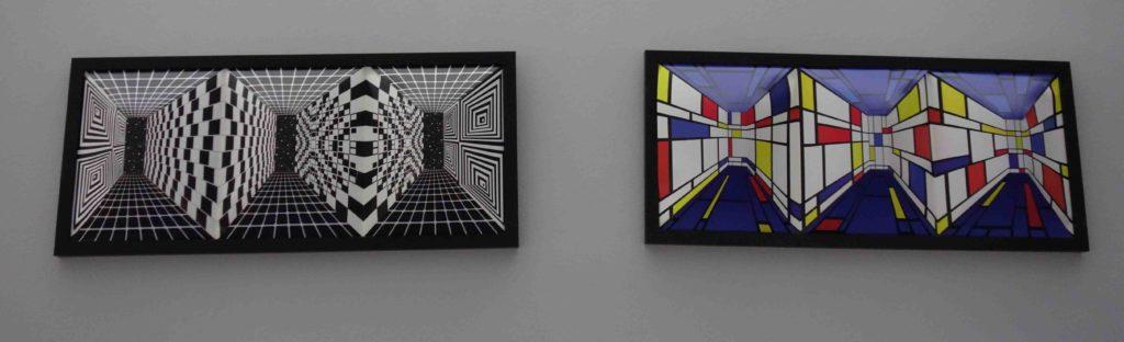 Optische Täuschungen im Museum der Illusionen Zagreb