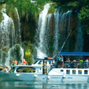 Bootsfahrt an den Krka Wasserfällen ab Skradin