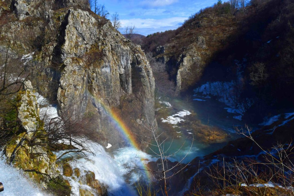 Regenbogen an den Plitvicer Seen