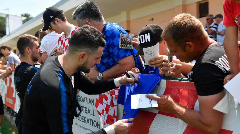 Kroatien trainiert für die FIFA WM 2018