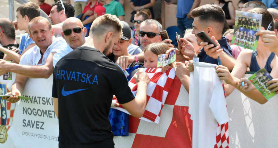Kroatische Mannschaft trainiert für die FIFA WM 2018