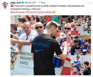 Twitter-Post der kroatischen Nationalmannschaft