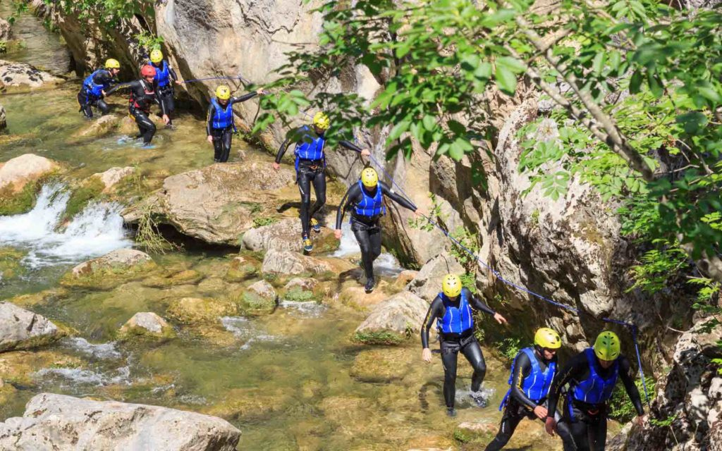 Cetina Canyoning Kroatien