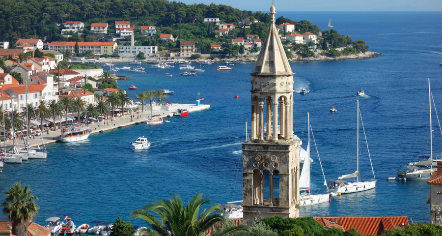 Stadt Hvar Kroatien