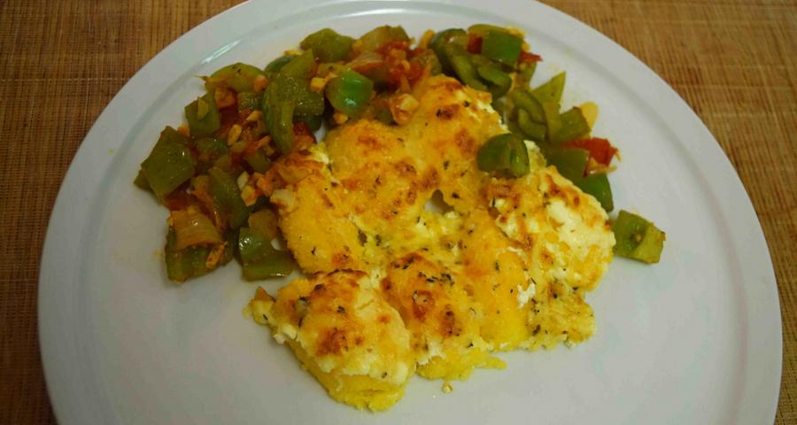Polenta Gnocchi mit Parmesan und Gemüse