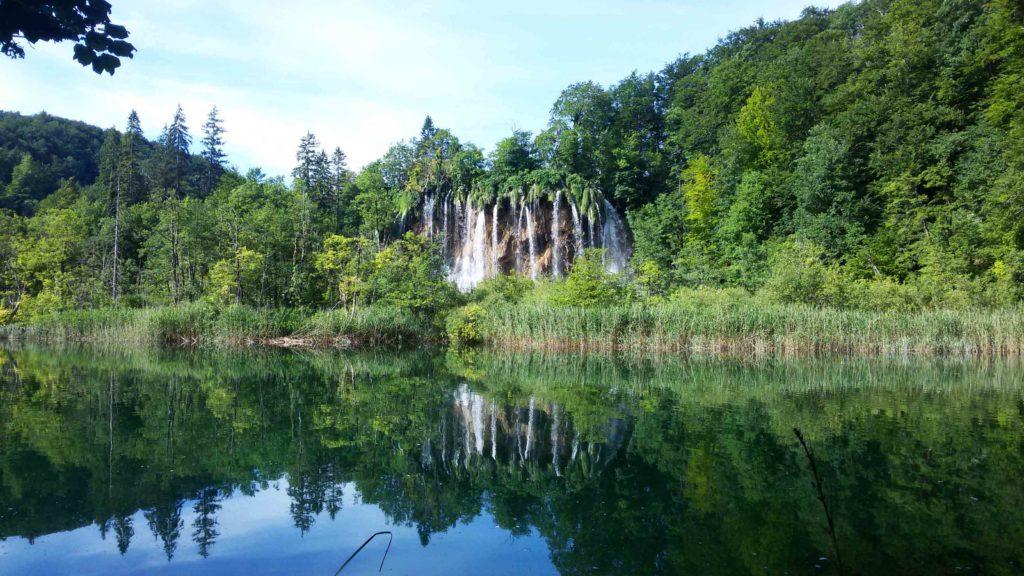 Wasserfall an den Plitvicer Seen