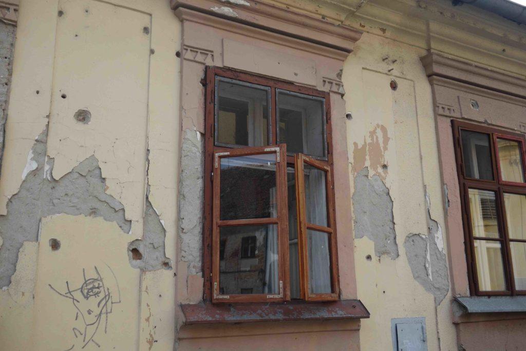 Einschusslöcher in Osijek