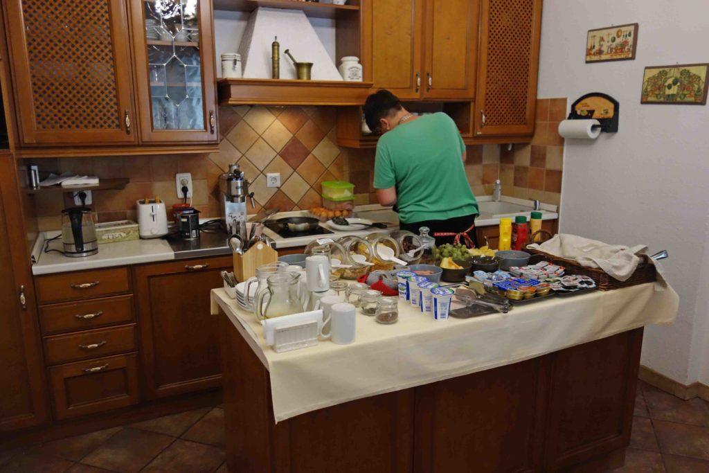 Frühstück im Gästehaus Maksimilian Osijek