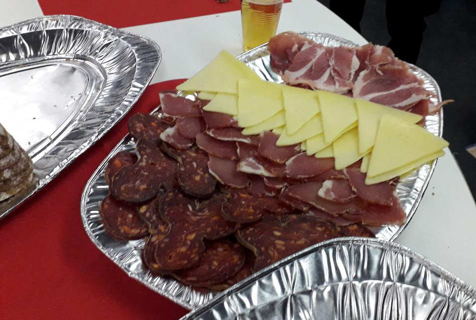 Backstage Essen bei der Hrvatska Noc 2018