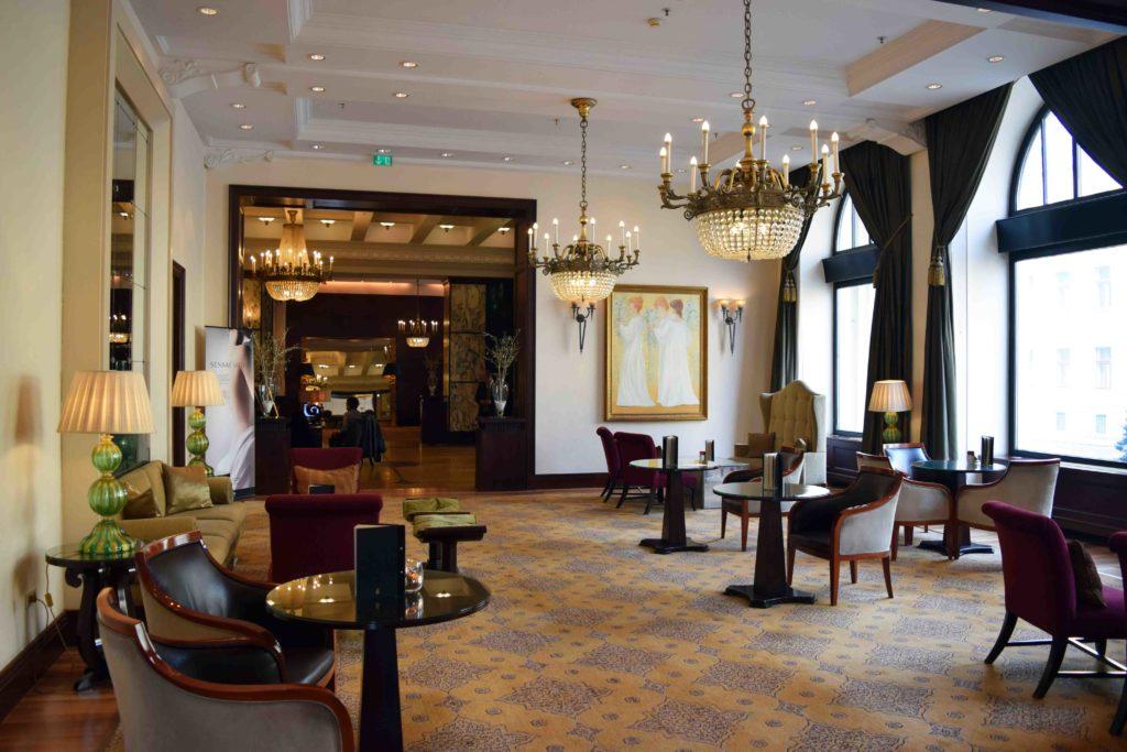 Lobby im Hotel Esplanade in Zagreb
