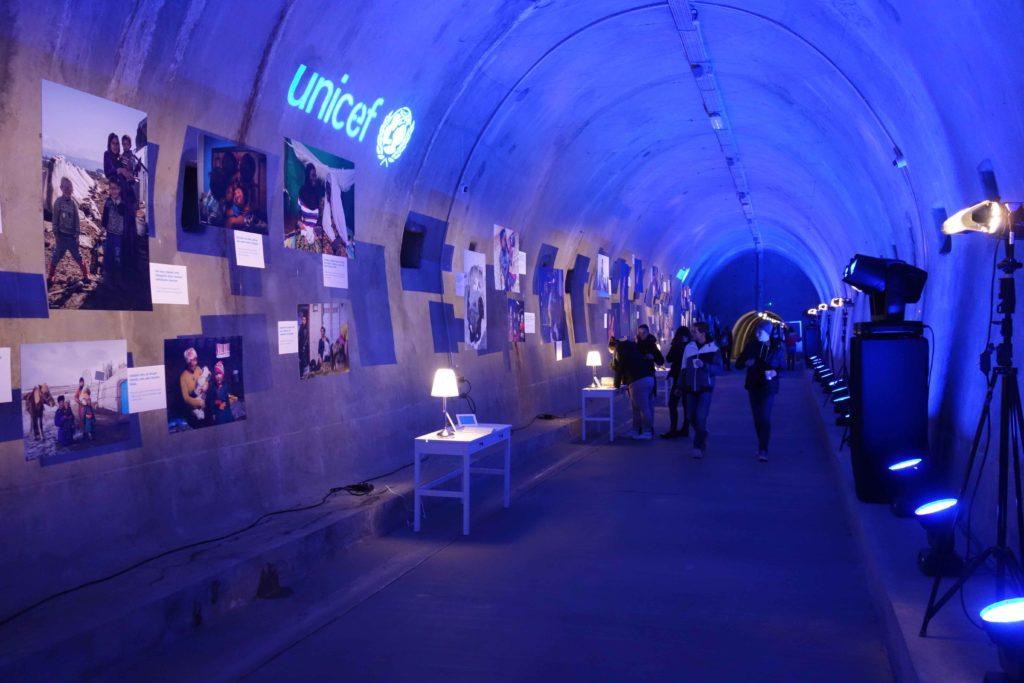 Unicef im Grič Tunnel