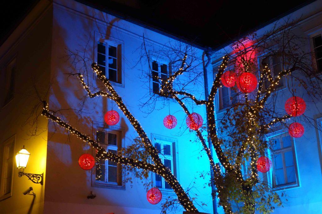 Weihnachtsbeleuchtung in Zagreb