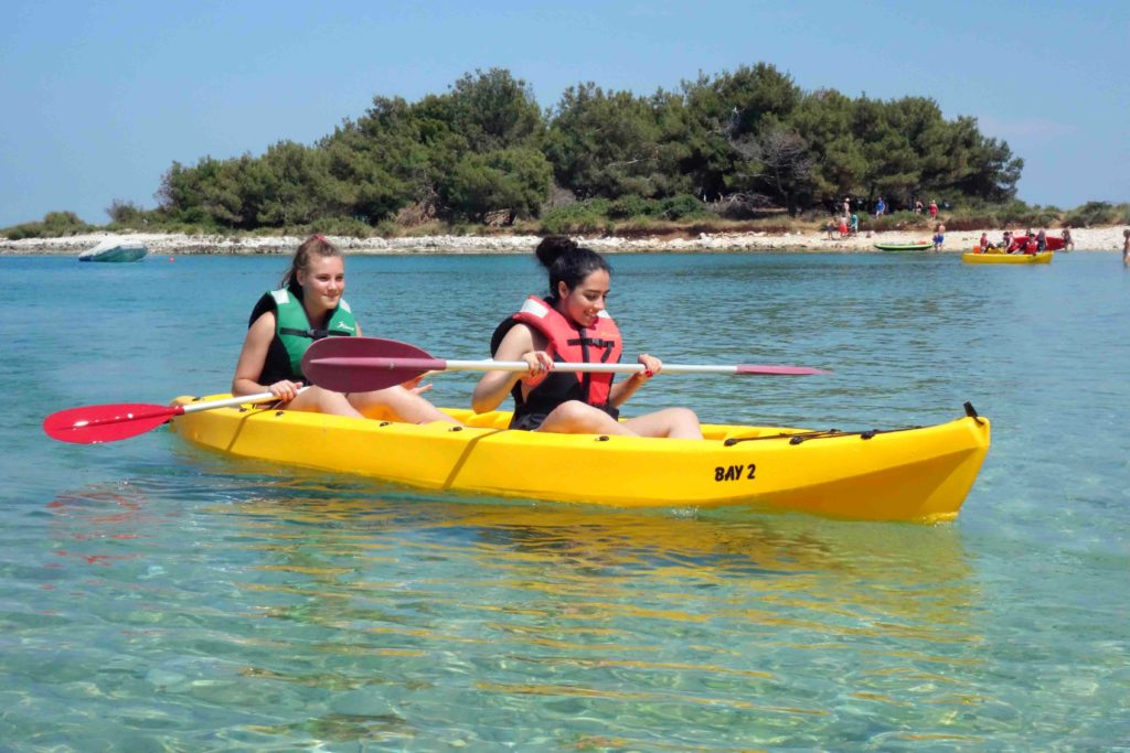 Kayaking in Kroatien
