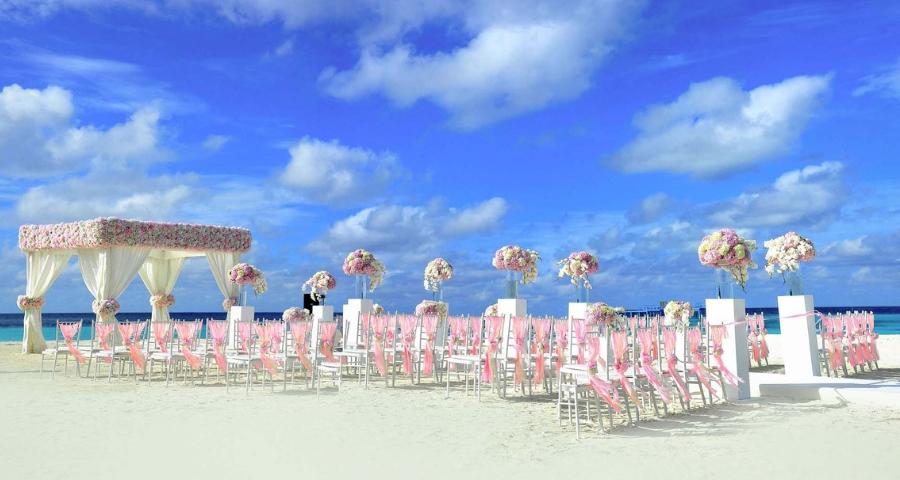 Maritime Hochzeitsblumen für Strandhochzeiten