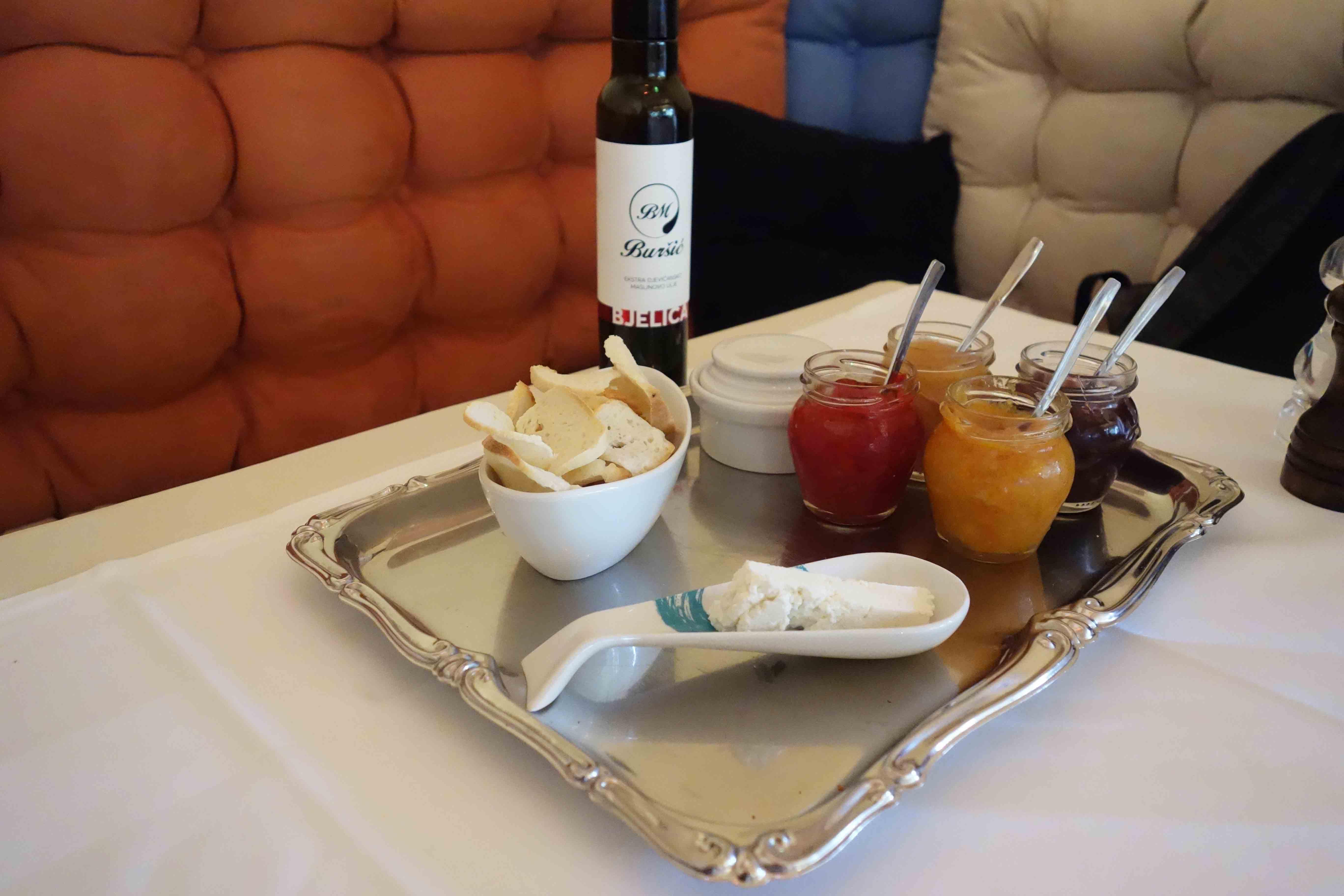 Chutney-Vorspeise in Istrien