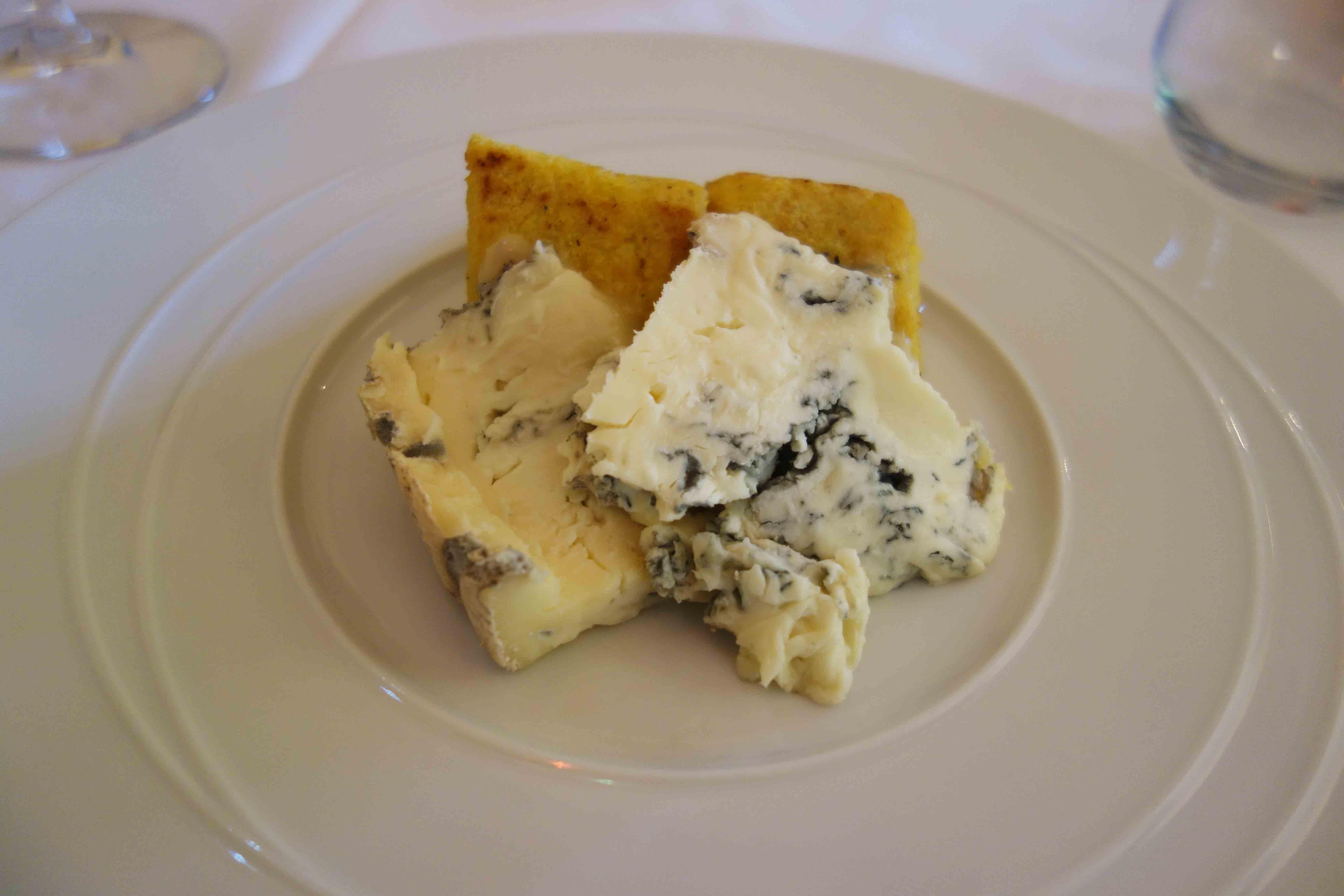 Polenta mit Gorgonzola
