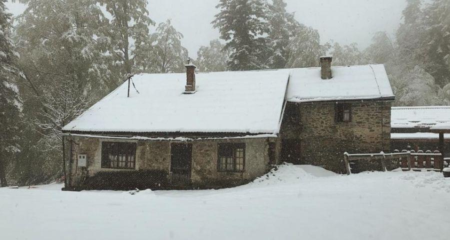 Schneefall auf Sljeme