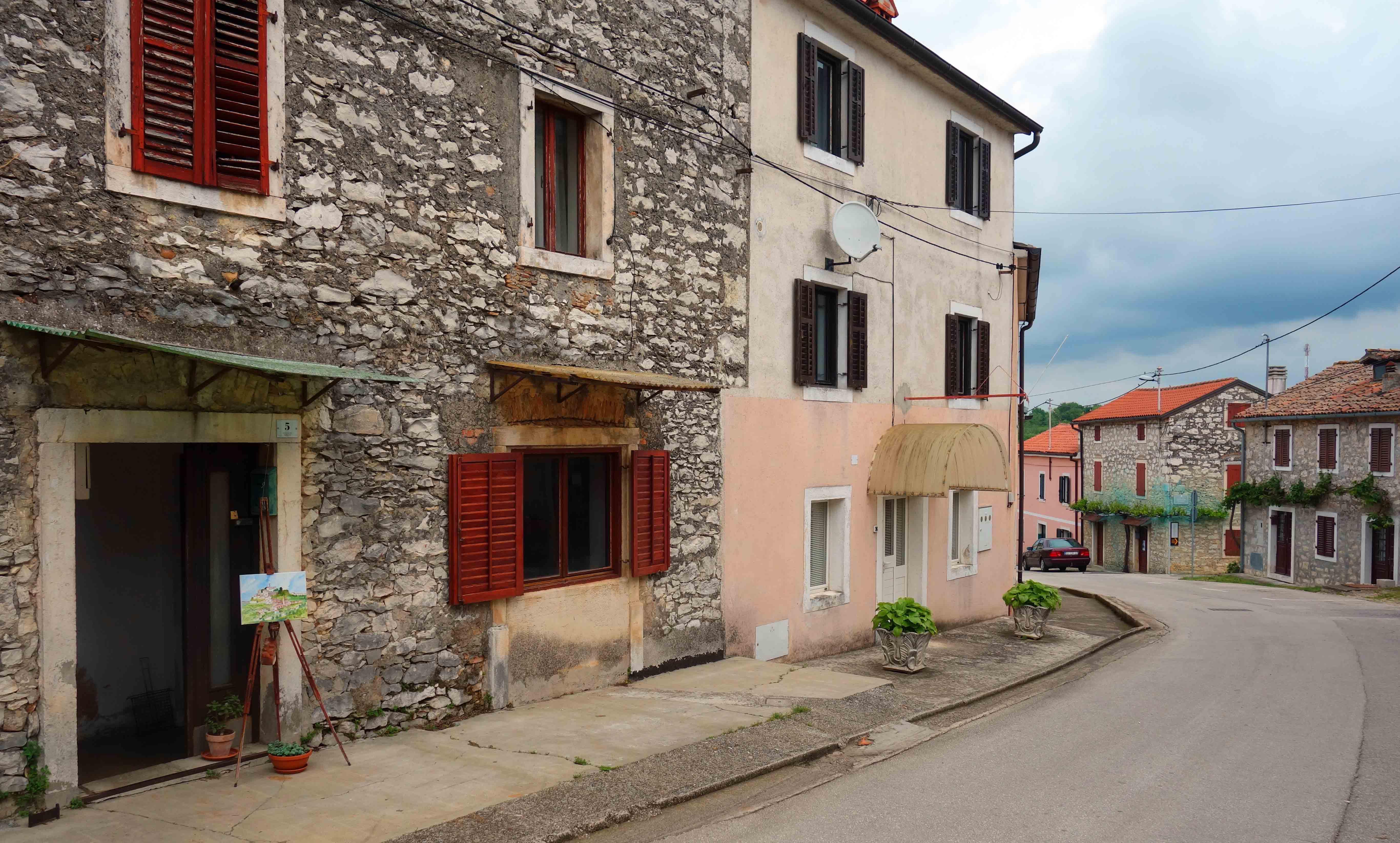 Straße in Brtonigla