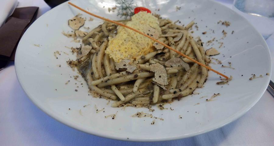 Pljukanci s tartufima im Restaurant Lungomare