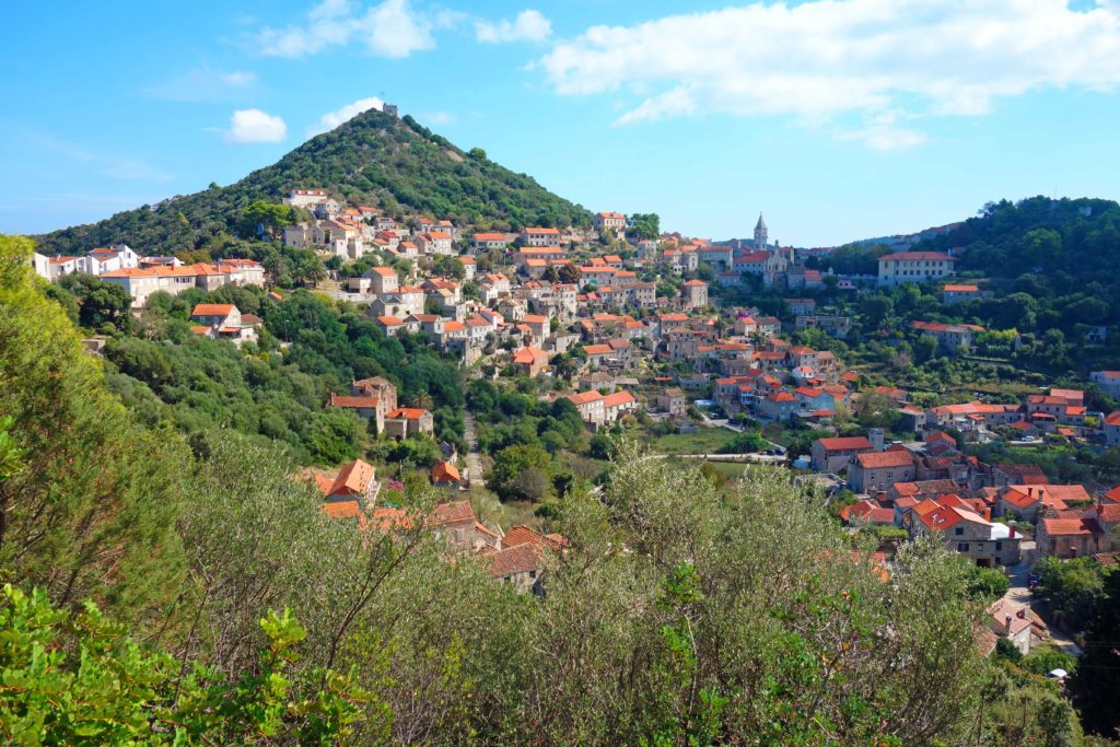 Blick auf Lastovo, Kroatien