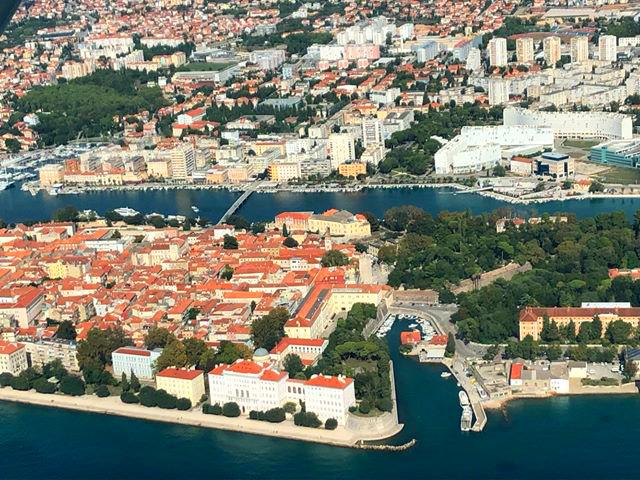Luftbild von Zadar