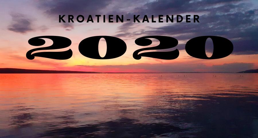 Kroatien Kalender 2020