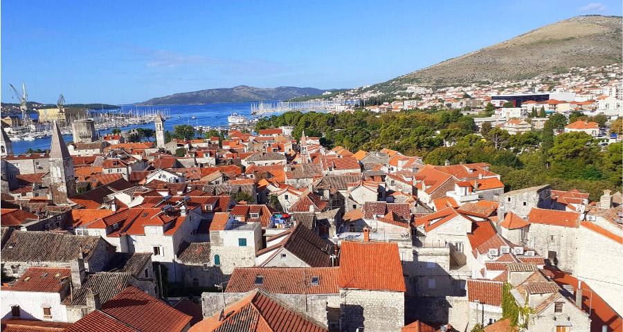 Aussicht über die Altstadt von Trogir