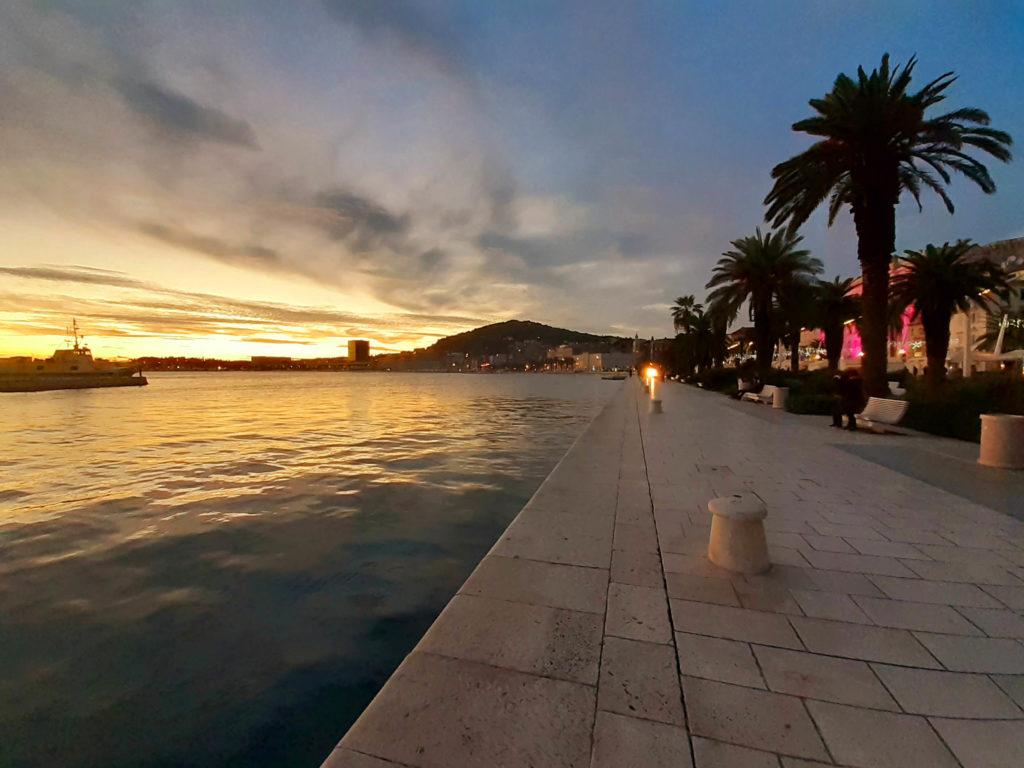 Riva von Split, Kroatien