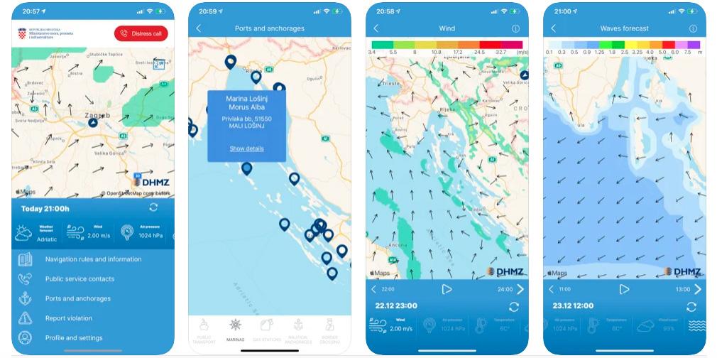 Kroatien App für Nautiker
